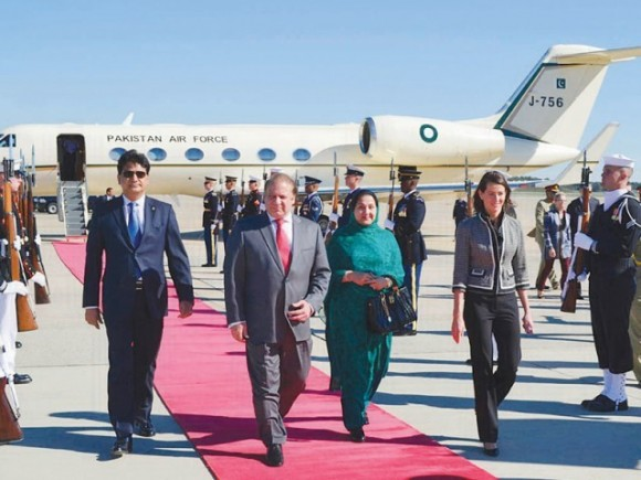 Nawaz Sharif on the red carpet